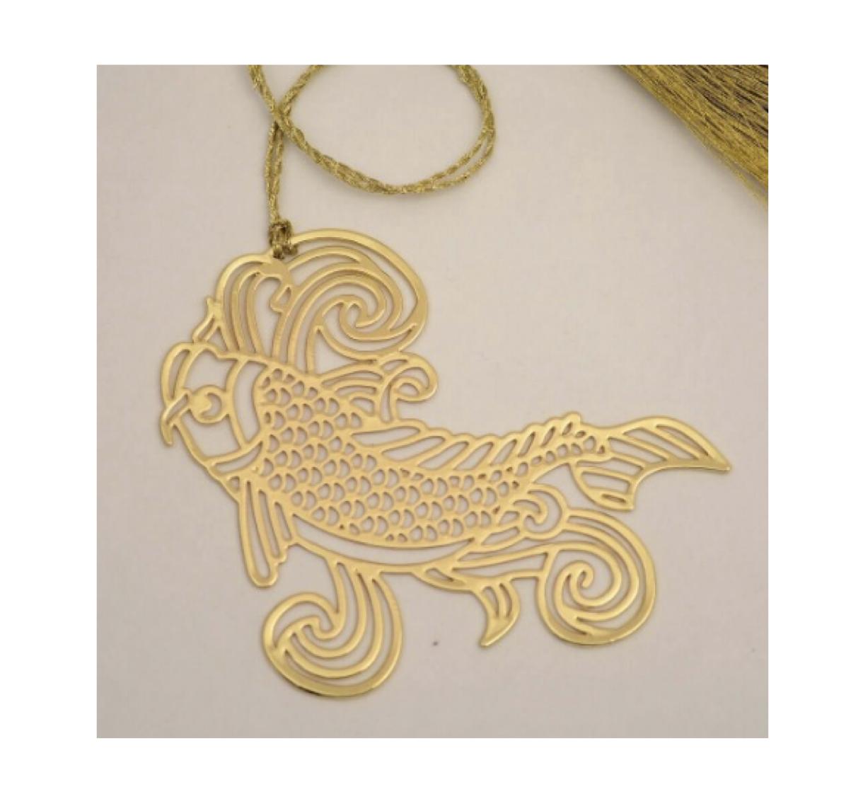 Anand Prakash Fish Metall Lesezeichen Ladybutler Design
