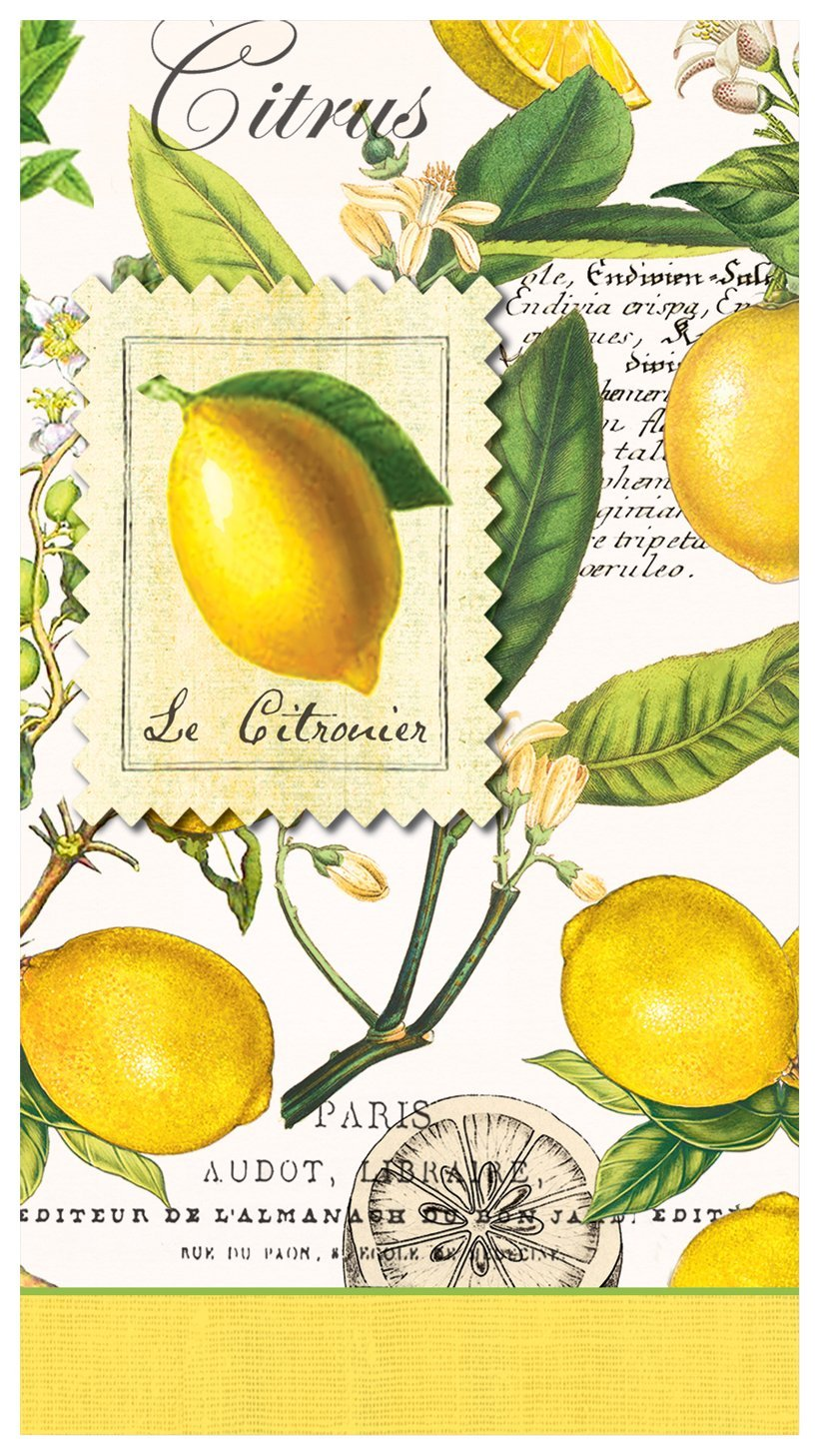 Michel design works lemons servietten hostess napkins for Design und funktion